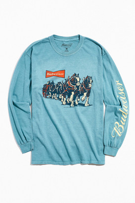 Urban Outfitters Budweiser Horses Long Sleeve Tee