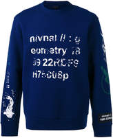 Lanvin semantics print sweatshirt