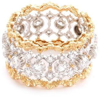 Buccellati 'Rombi Eternelle' diamond gold openwork ring