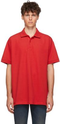Balenciaga Red Pique Polo