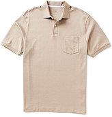 Roundtree & Yorke Supima Short-Sleeve Solid Pocket Polo Shirt