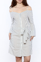 Mono B Stripe Button Down Dress