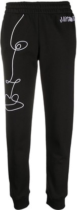 Moschino Cornely embroidery track pants