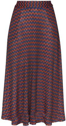 Wales Bonner Geometric Print Midi Skirt