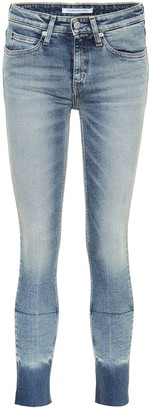 Calvin Klein Jeans Cropped mid-rise skinny jeans