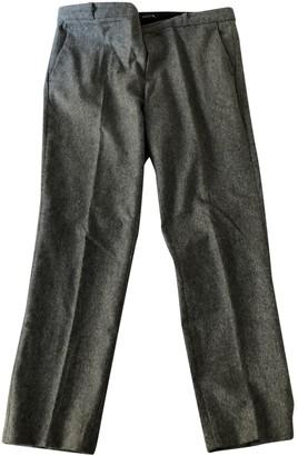 soeur Grey Wool Trousers for Women