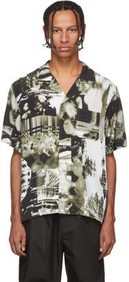 Christian Dada Black and White Graphic Print Shirt