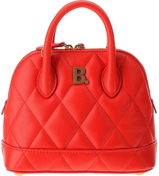 Balenciaga Red Quilted Leather Ville Top XXS Satchel Bag
