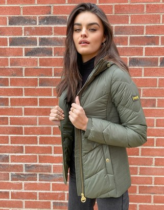 Barbour International Miller quilted jacket in khaki