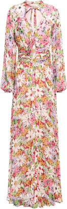 By Ti Mo Bytimo Pussy-bow Floral-print Fil Coupe Maxi Dress