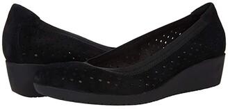 Clarks Elin Sun (Black Leather) Women's Shoes