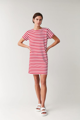 Cos Striped Cotton T-Shirt Dress