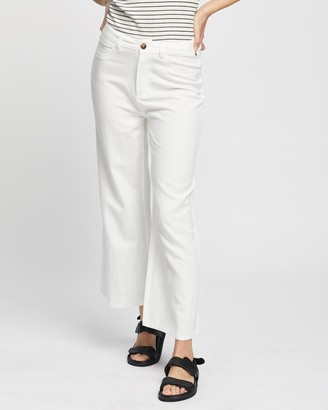 Rusty Women's White Pants - Ringleader Wide Leg Pants - Size One Size, 12 at The Iconic
