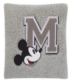 Disney Mickey Mouse Sherpa Pillow with Applique Bedding