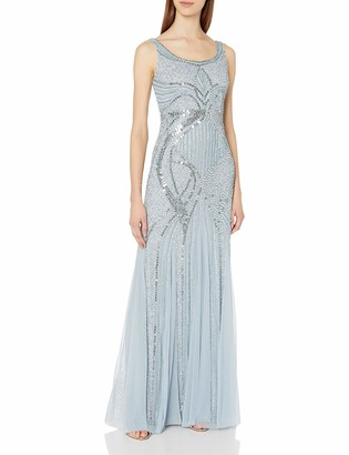 Adrianna Papell Women's Long Beaded Tank Gown