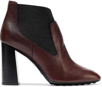 Tod's Textured-leather Ankle Boots