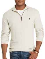Polo Ralph Lauren Big and Tall Pima Cotton Half-Zip Sweater