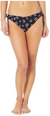 Polo Ralph Lauren Stencil Floral Side Laced French Pant (Black) Women's Swimwear