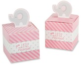 Kate Aspen Little Peanut Elephant Favor Box - Pink/Gray (Set of 24)