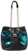 Betsey Johnson Bow-Lesque Sequin Drawstring Bag