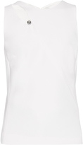 Thierry Mugler Cut-out sleeveless crepe top