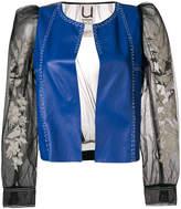 Aviu contrast biker jacket