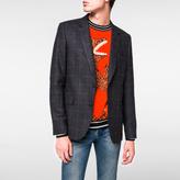 Paul Smith Men's Slim-Fit Charcoal Textured-Windowpane Check Stretch-Wool Blazer