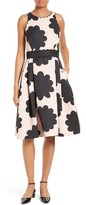Kate Spade Women's Petal Stamp Fit & Flare Dress