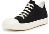 Rick Owens Canvas Cap Toe Low Sneakers