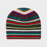 Paul Smith Boys' 7+ Years Wool-Cashmere Striped Beanie Hat