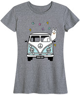 Instant Message Women's Women's Tee Shirts HEATHER - Heather Gray Llama in Van Relaxed-Fit Tee - Women & Plus