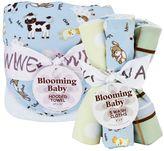 Trend Lab Baby Barnyard Hooded Towel & Washcloth Bouquet Set