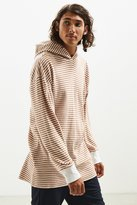 Urban Outfitters Colin Striped Thermal Hooded Long Sleeve Tee