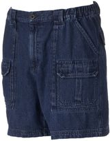 Croft & Barrow Men's Denim Side Elastic Cargo Shorts