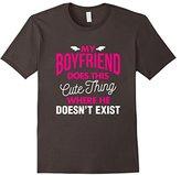 Men's My Boyfriend Doesn't Exist Funny Tee Vision T-Shirt 3XL
