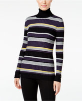 Style&Co. Style & Co. Striped Turtleneck Sweater, Only at Macy's