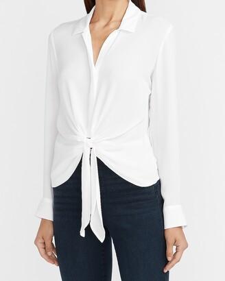Express Tie Front Portofino Shirt