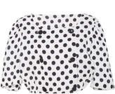Lisa Marie Fernandez Diana Double Breasted Polka Dot Linen Top