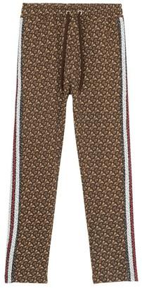 Burberry Raine Monogrammed Cotton Sweatpants