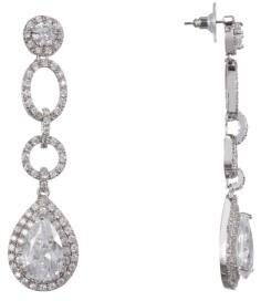 Nina Pave Pear Cubic Zirconia Drop Earrings