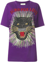 Gucci Blind for Love panther t-shirt - women - Cotton - XS