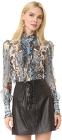 Roberto Cavalli Long Sleeve Blouse