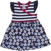 Zutano Blaue Blumen Surplice Dress (Baby) - Navy-9 Months