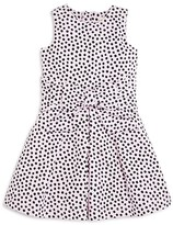 Kate Spade Girls' Bow Front Dot Jersey Dress - Sizes 7-14