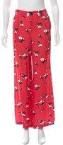 Derek Lam 10 Crosby Floral Print Wide-Leg Pants