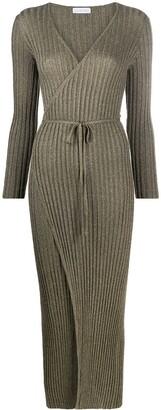 Antonella Rizza Metallic-Threaded Wrap Dress