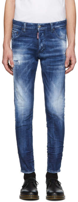 DSQUARED2 Blue Army Fade Wash Skinny Dan Jeans