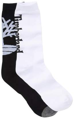 Timberland Logo Pattern Crew Socks - Pack of 2