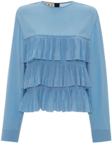 Marni Long Sleeve Tiered Top