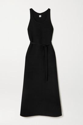 Totême Belted Wool Maxi Dress - Black